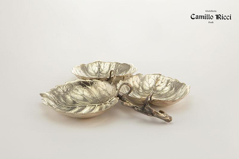 Trittico foglie  di nocciolo